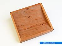 Монетница деревянная с бортиками, фото 1