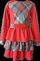 Нарядное весеннее платье для девочки. 134 размер