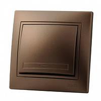 Выключатель светло-коричневый Lezard Mira