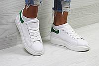 Кроссовки женские код товара SD-5877. Белые с зеленым