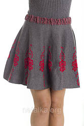 Женская вязаная юбка — стильно и тепло