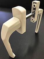 Гарнітур балконний (Україна) асиметричний білий (моноблок вузька ручка + звичайна)