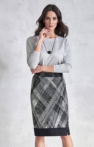 Женская юбка с принтом серого цвета. Модель VC407 Sunwear