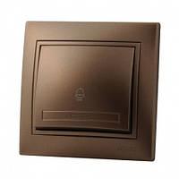 Кнопка звонка светло-коричневый Lezard Mira