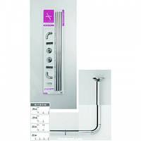 Карниз алюминиевый угловой для душа или ванной L и U вида хром, фото 1