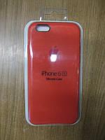 Силіконова накладка iPhone 6/6S (Silicon Case original) New Apricot