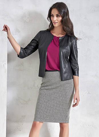 Женская юбка-карандаш в принт гусиная лапка. Модель VC408 Sunwear