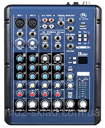 HL Audio SMR6 мікшерний пульт, 2 моно + 2 стерео каналу