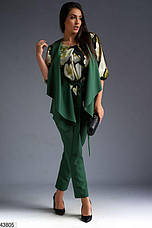 Новинка! стильный брючный женский демисезонный костюм тройка! размеры: 50, 52,54,56, фото 3