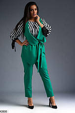 Новинка! стильный брючный женский демисезонный костюм тройка! размеры: 50, 52,54,56, фото 2