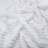 Лоскут плюша в полоску Stripes, цвет белый, с оттенком айвори 100*45 см, фото 2