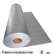 Спінений поліетилен ламінований 8 мм - 1м × 50м