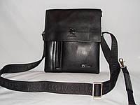 Мужская сумка Gorangd 7724-3 черная искусственная кожа, фото 1