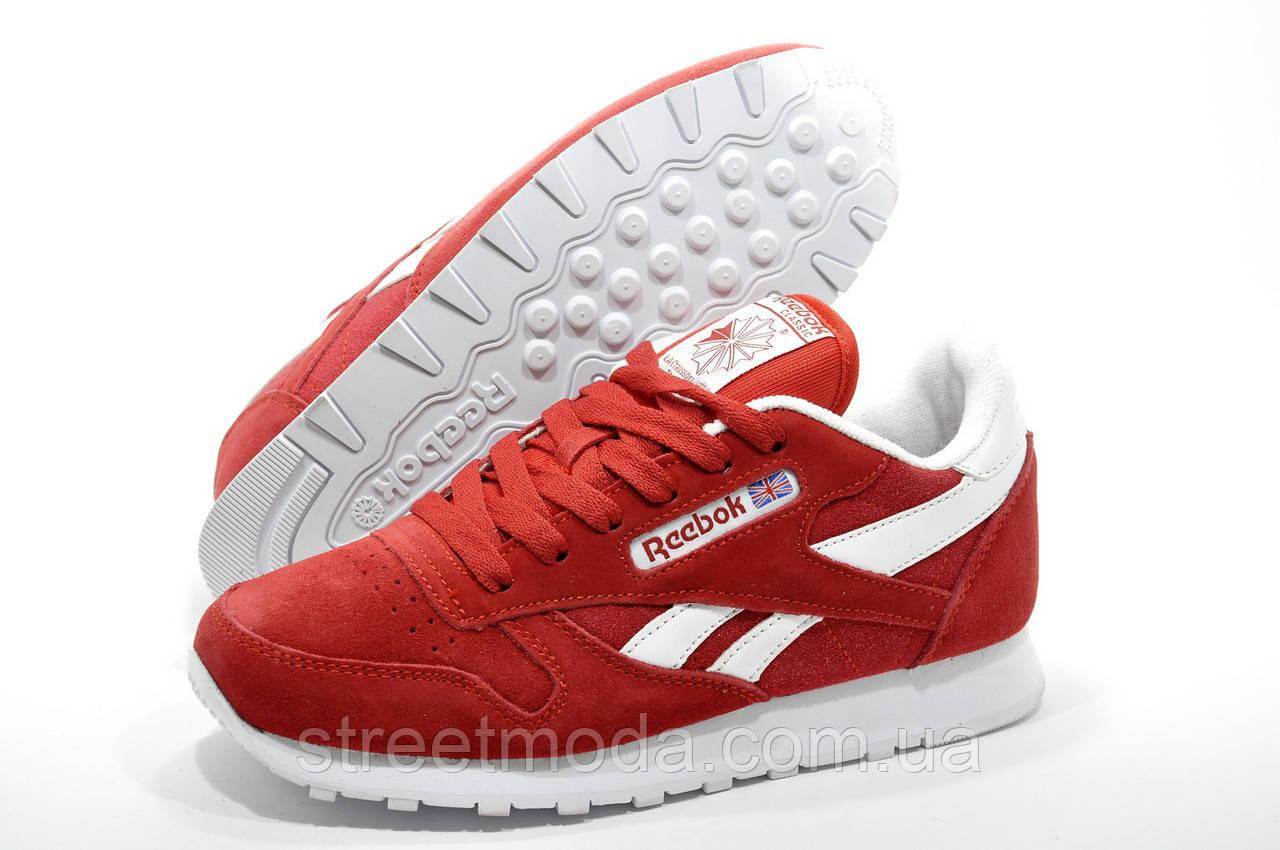994abfce Женские кроссовки в стиле Reebok Classic Leather, Красные: продажа ...