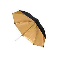 Фото зонт 84см золотистый, 33 дюйма студийный 2000-00895