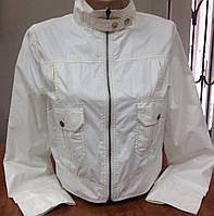 Куртка ветровка женская белая молодежная
