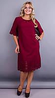 Нарядное платье больших размеров с перфорацией Ажур, в расцветках. 50-68размеры