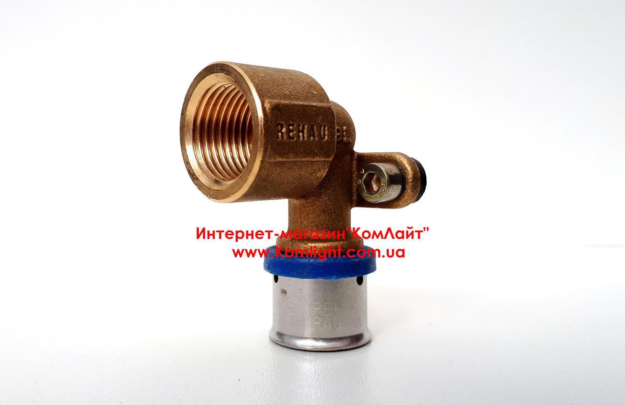 Пресс-фитинг латунный с внутренней резьбой REHAU D=16 мм х 1/2