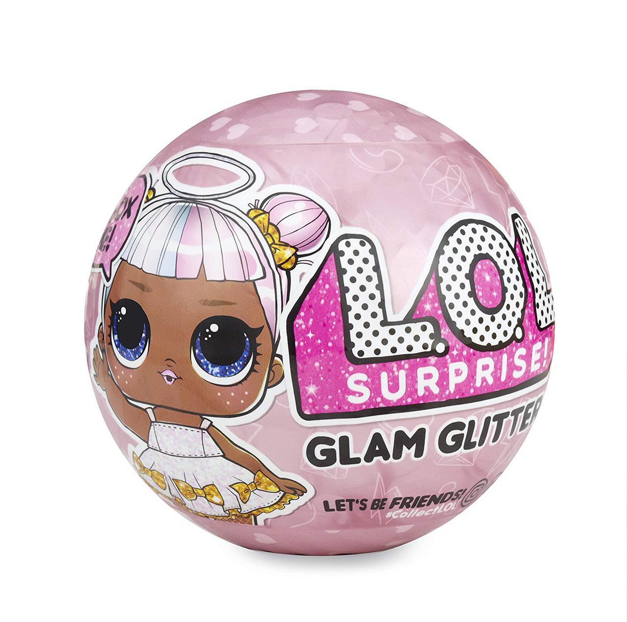 Кукла LOL Glam Glitter Decoder Series 2 серия ЛОЛ Оригинал Блестящий Шарик-сюрприз Гламурный блеск