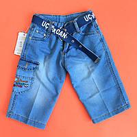 Бриджи джинсовые на мальчика с ремешком размер 9