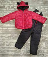 Теплый костюм демисезонный детский Сердечки (9 мес-2 040fded23f67d