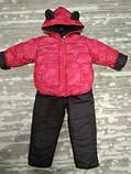 Теплый костюм демисезонный детский Сердечки (9 мес-2,5 лет), фото 3