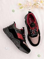 Спортивные кроссовки женские с блестками 25736, фото 1