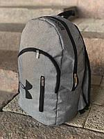 Рюкзак Under Armour молодежный стильный городской, цвет светло-серый меланж, фото 1