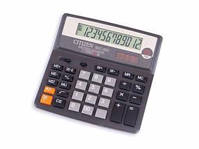 Калькулятор Citizen SDC-620II серый 12 разряд, 156х156х31,3, пласт корп, пласт кн