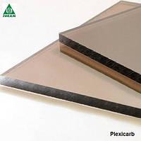 Монолитный поликарбонат 4мм бронза Plexicarb 10%