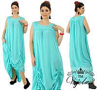 """Длинное платье в пол больших размеров """" Штапель """" Dress Code, фото 1"""