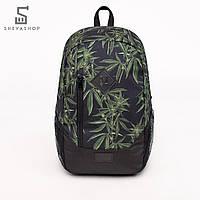 Рюкзак UP B9 DARK HEMP, черный с листьями, фото 1