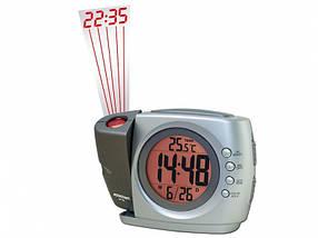 Часы настольные Assistant AH-1502 серый многофункц с проектор 95х125х55