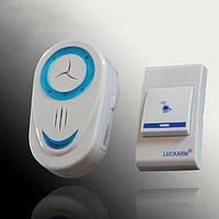 Беспроводной дверной звонок Intelligent Luckarm, цвет - бело-синий, с доставкой по Киеву и Украине