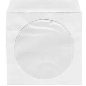 Конверты для СD * белый 125*125 бум с окошк