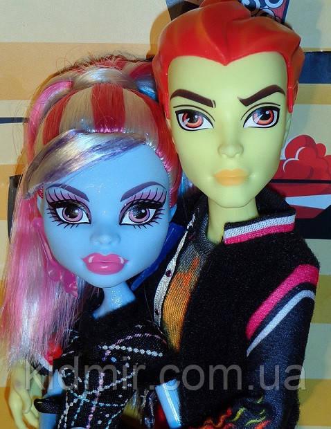 Набор кукол Monster High Хит Бёрнс и Эбби (Abbey Bominable & Heath Burns) Монстер Хай Школа монстров
