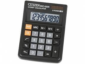 Калькулятор Citizen SDC-022S черный 10 разряд, 87х119,7х23,1, пласт корп, пласт кн