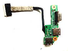 Доп плата USB, VGA с шлейфом для ноутбукаDell Inspiron N5010