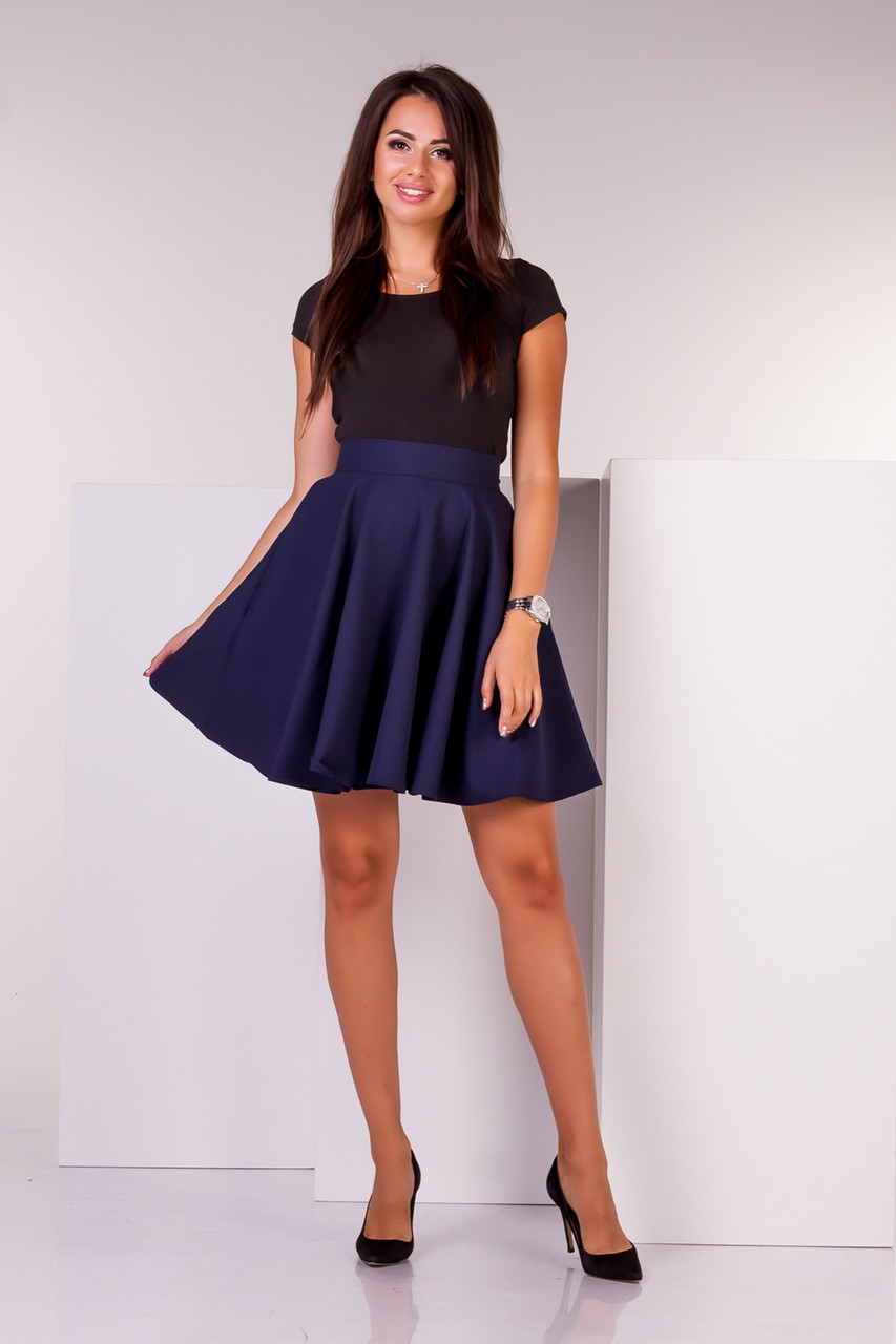 1e551bc18ee Короткая женская юбка-клеш