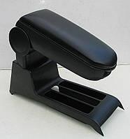 Подлокотник ASP для Volkswagen Polo 9N тканевый виниловый черный серый