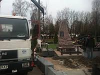 Монтаж памятников