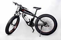 Электровелосипед с широкими колесами фэтбайкMercedes крутой эковелосипед мощность двигателя 500 Вт