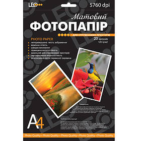 Фотобумага для принтера Leo 720119 A4 230г/кв.м, 20л, матов L3735