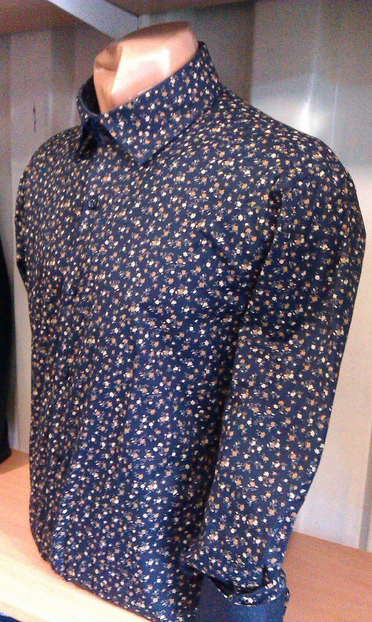 Чоловіча сорочка з довгим рукавом приталені DERGI 3007