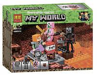 """Конструктор Майнкрафт """"Бой в Подземелье"""" Bela 10808 аналог Лего 21139, 96 деталей., фото 1"""