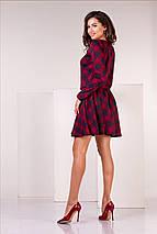 """Женский трикотажный костюм в клетку """"Diora"""" с длинным рукавом (5 цветов), фото 2"""