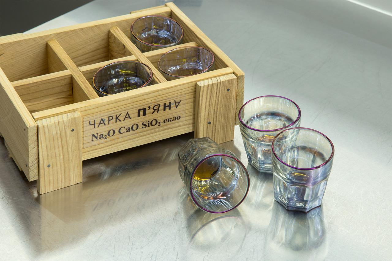 Набор пьяных голографических рюмок для водки