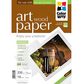 Фотобумага для принтеров ColorWay PGA230010WA4 А4 230г/м 10л ART глян./факт. деревья