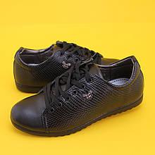 Детские черные полуботинки для девочек  1403B Tom.m размер 33,38