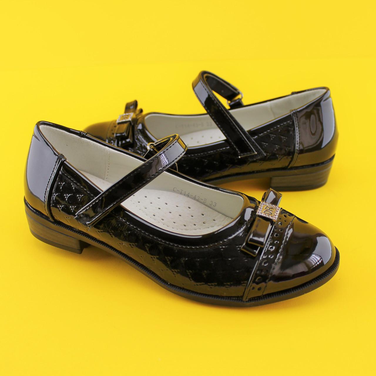Туфли для девочек школьная классика 1443B Tom.m размер 36,38